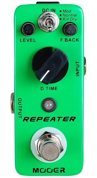 Pedal Guitarra Delay Mooer Repeater Delay Mdl1 Micro Pedal