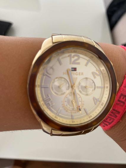 Relógio Tommy Hilfiger Feminino Dourado Original