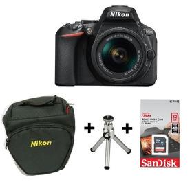 Câmera Nikon D5600 C/ Lente 18-55 +bolsa+tripé + Sd32gb + Nf