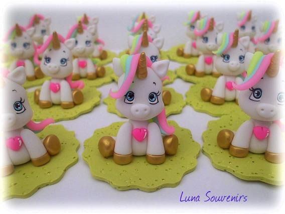 Unicornios Souvenirs En Porcelana Fria