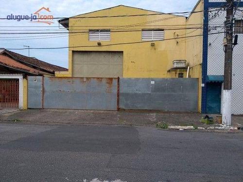 Imagem 1 de 4 de Galpão Para Locação Por R$ 8.000/mês - Vila Guilhermina - Praia Grande/sp - Gr0006