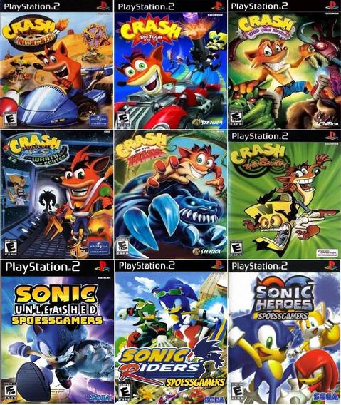 Crash E Sonic Collection (9 Jogos) Ps2 Desbloqueado Patch