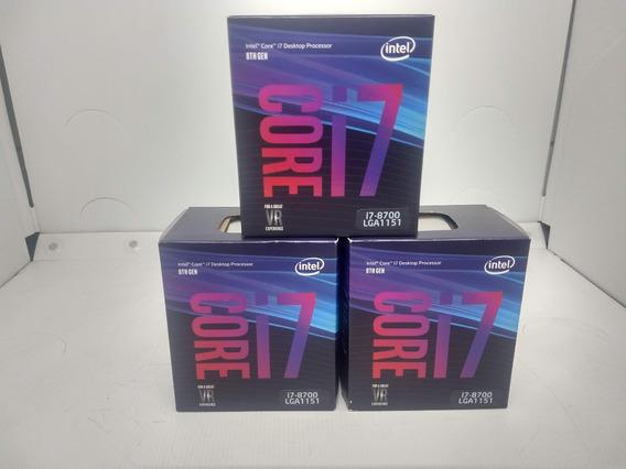 Processador Intel Core I7-8700 12mb 3.2ghz 4.6ghz Max Turbo