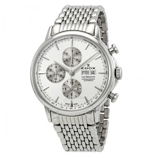 Relógio Edox Les Bemonts Cronógrafo Branco/prata Automático