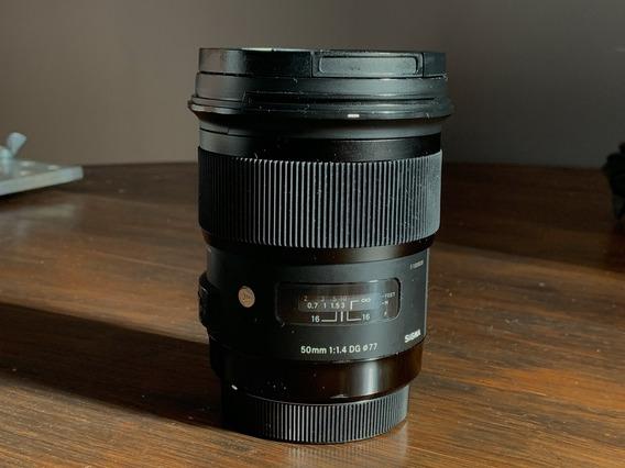 Lente Sigma 50mm 1.4 Art Para Canon