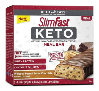 Slimfast Keto Meal Peanut Butter Chocolate 1.48oz., Pack 5