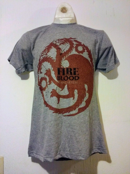 Playera Camiseta Fire And Blood Casa Targaryen Got