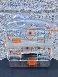 Jaula Hamster Completa 3 Pisos Con Esfera