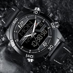 Relógio Masculino Naviforce 9128 Pulseira Couro Original