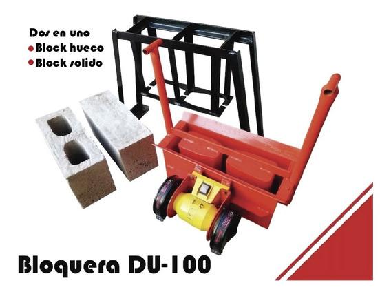 Bloquera Manual Con Motor Eléctrico De Un Bloque 12x20x40
