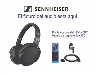 Audífono Auricular Sennheiser Hd4.40bt Bluetoot+mx170 Gratis