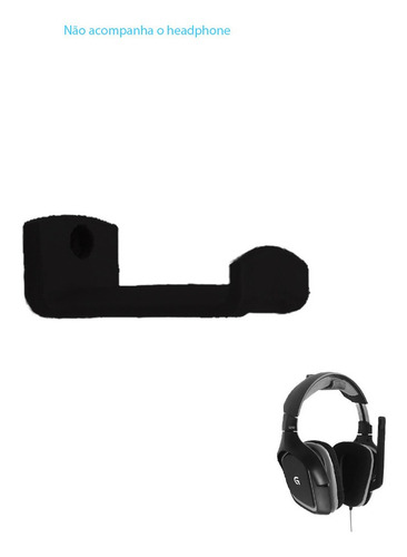 Imagem 1 de 1 de Suporte Headphone Headset De Parede - 5 Cm