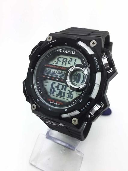 Relógio Masculino Atlantis Sports G7458 Prata