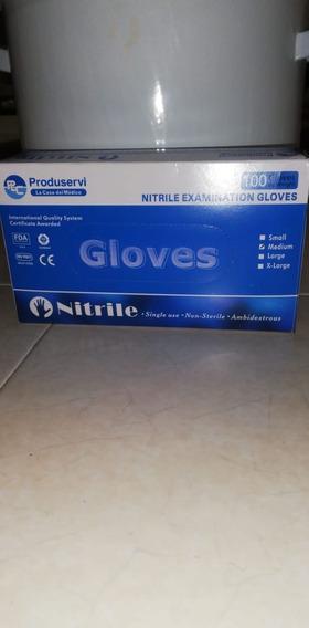 Guante Nitrilo Azul Chico, Mediano Y Grande 10 Cajas 1000pzs