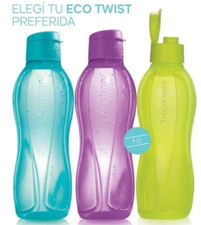 Tupperware Botella 1lts. Varios Colores