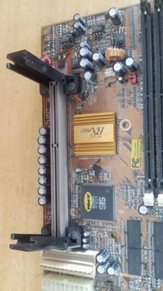 Placa Mãe Slot 1 Usada Pc 100 Bx Pro