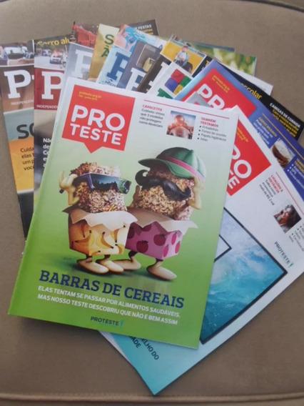 Lote Com 12 Revistas Proteste