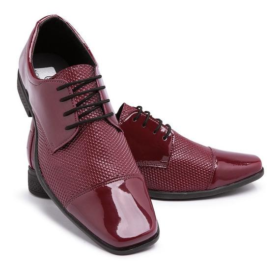 Sapato Social Couro Envernizado Masculino Franca Brilho 701