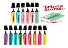 Marca Texto Stabilo Boss Pastel E Neon 15 Cores + Brinde