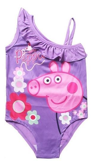 Traje De Baño Para Niñas Peppa Pig 6/7 Años Envio Gratis