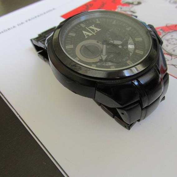 Relógio Armani Exchange Todo Preto Quartz