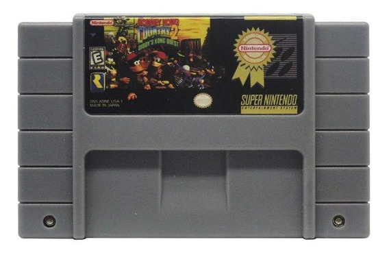 Donkey Kong Country 2 Diddys Kong Quest Snes Mídia Física