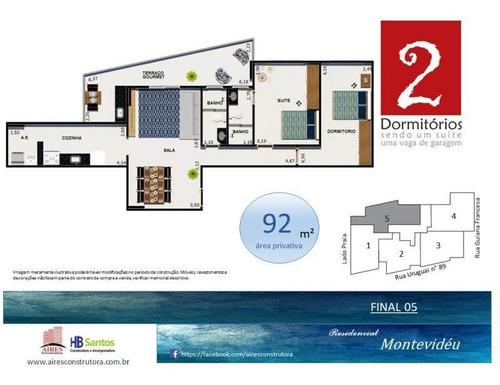 Imagem 1 de 7 de Apartamento - Venda - Guilhermina - Praia Grande - Air64