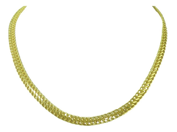 Linda Gargantilha Grumet Lacraia Ouro 18k 750 40cm 10g 6mm