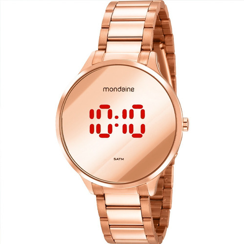 Relógio Feminino Mondaine Rose Digital Led 32060lpmvre2