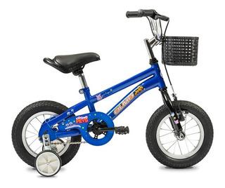 Bicicleta Infantil Nene Niños Olmo Cosmo Pets Rodado 12 Azul