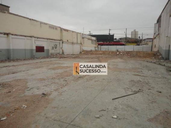 Terreno Para Alugar, 1000 M² Por R$ 15.000,00/mês - Vila Carrão - São Paulo/sp - Te0470