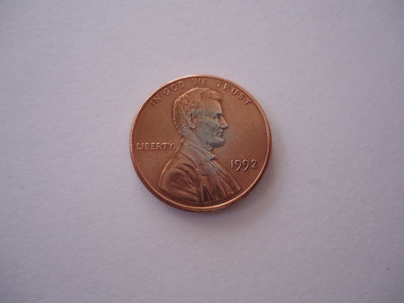 Moeda Bronze 1 Um One Cent Centavo Dolar 1992 Usa America