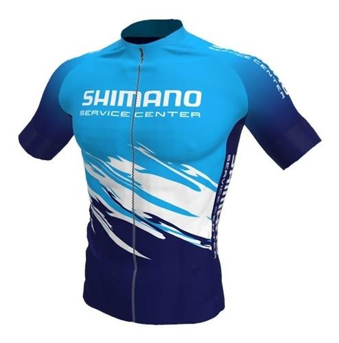 Imagem 1 de 2 de Camisa Ciclismo Shimano Service Center Biker Pedal