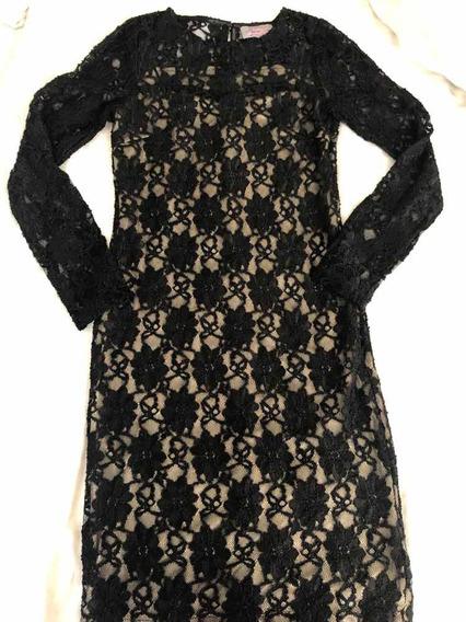 Pippa Dee Vestido Midi Encaje Negro Talla S