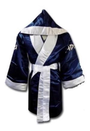 Bata Para Box Satinada Azul Marino ¡envio Gratis!