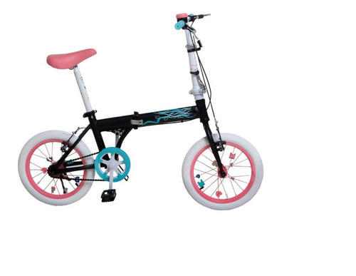 Bicicleta Plegable Bia 7152-t Rodado 16 Original Disney Lh