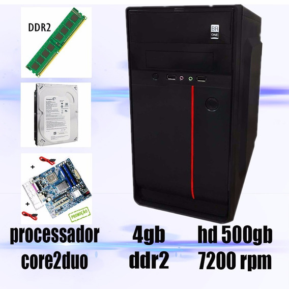 Computador Pc Core2duo + 2gb Ram + Hd500gb Promoção