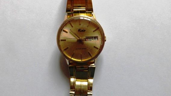 Relógio Mido Ocean Star Automático Plaquet Ouro Exelente