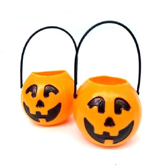 Calabaza Naranja Mediana X6 Halloween Cotillon Souvenirs