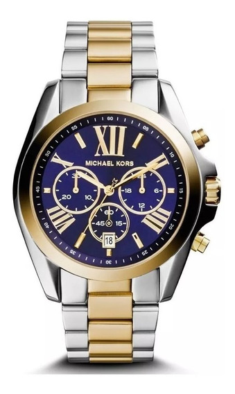 Relógio Feminino Mk5976/5an Cronógrafo Bicolor Com Garantia