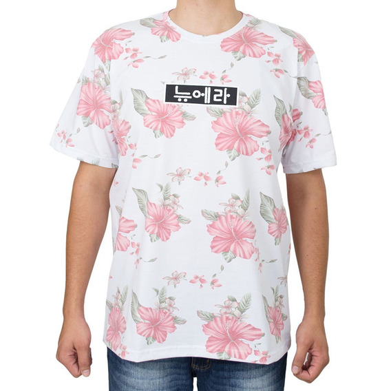 Camiseta New Era Floral Kore Branca Original