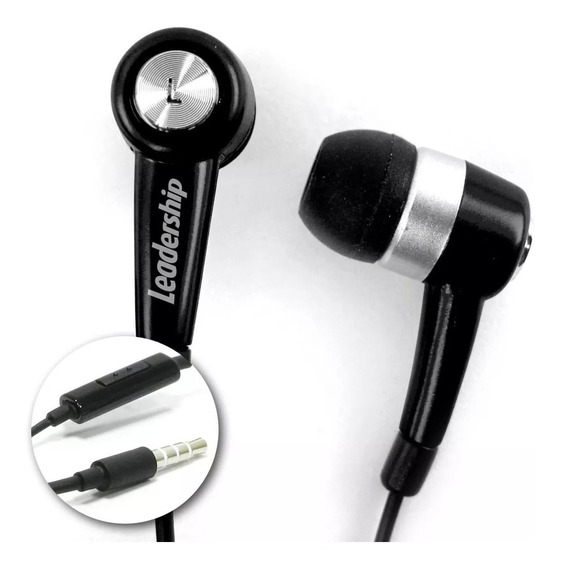 Earphone To-go C/ Microfone Preto Leadership 9366
