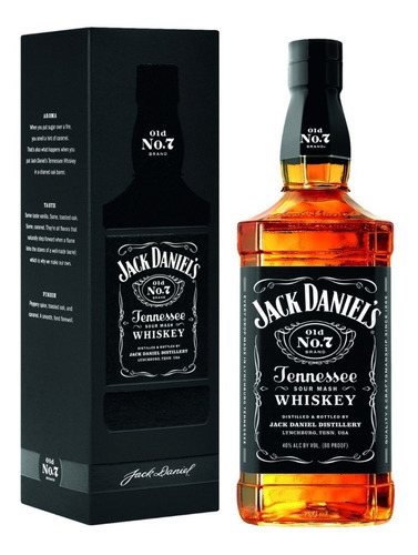 Imagen 1 de 10 de Whisky Jack Daniels Old N°7 1000ml En Estuche