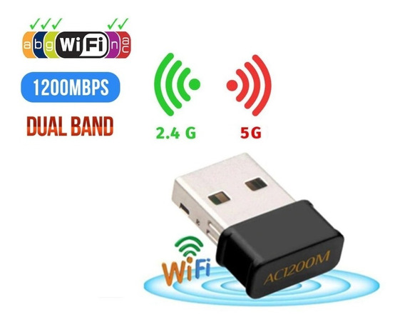Adaptador Usb Wireless Dual Band Ac1200 5ghz 1200mbps