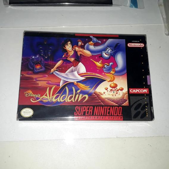 Jogo Disney Aladdin Snes Nintendo Completo Original Raro!!!