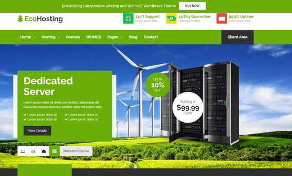 Ecohosting 2.9 Responsive Hosting And Whcs Theme