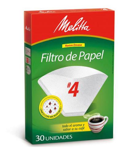 Imagen 1 de 7 de Filtros De Papel N4 Cafetera Electrica Melitta X30 Unidades