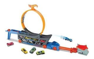 Pista De Carreras Stunt & Go Hot Wheels Mattel 10 Vehículos