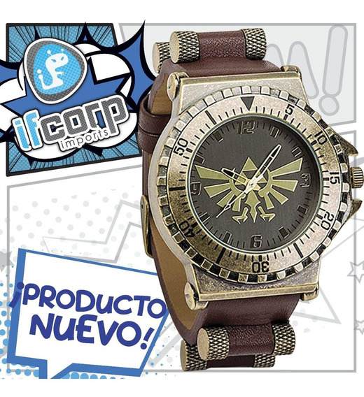Reloj Nintendo Legend Of Zelda Leather Watch Original