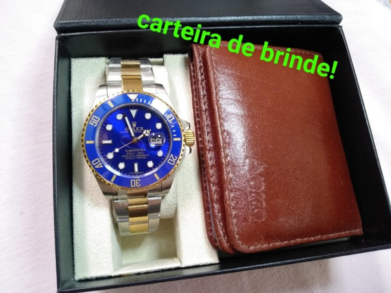 Relógio Submariner Azul Cerâmica!
